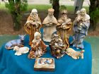 Beautiful Vintage Ceramic 10 Piece Christmas Nativity Set