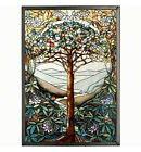 STAINED GLASS PANELS TREE OF LIFE ART GLASS PANEL WALL ART