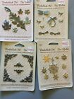 Embellish It Gold Tone Embellishments Lot Of 4 Packages Scrapbook Candles Etc