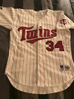 NEW 1992 Kirby Puckett Minnesota Twins Authentic Russell Pro Cut Home Jersey 44
