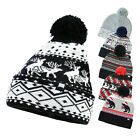 Men Women Beanie Sweater Holiday Merry Christmas Warm Hat Knit Cotton Caps Gift