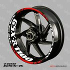 SUZUKI GSX-R 1100 wheel decals tape stickers gsxr1100 Reflective 17 rim stripes