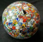 Vintage GENTILE ART GLASS PAPERWEIGHT Millefiori Canes Star City WV