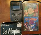 TurboGrafx TurboExpress Handheld System Car Charger Bonks Revenge Keith Courage