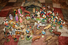 HUGE Vintage German Italian Paper Mache Chalkware Christmas Nativity Figures
