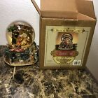 Musical Water Globe Grandeur Noel Nativity Music Box Carousel Christmas 1999