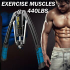 Hydraulic Chest Arm Strength Expander Exercise Muscle Twister Bar Training Devic