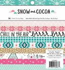 American Crafts Crate Paper Christmas 6x6 Paper Pad Cardstock Snow and Cocoa 6 x