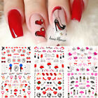 Nail Art Water Decals Valentines Series Transfer Stickers Nail Wraps Decoration
