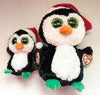 TY IGLOO PENGUIN WEARING RED HATS SET OF 2(6