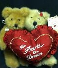 BOYDS PLUSH VALENTINE'S DAY BEARS- CHARLIE AND MOLLIE - TWO HEARTS, ONE DREAM