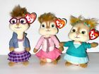 TY SET OF 3 CHIPETTES-BRITTANY, ELEANOR & JEANETTE  BEANIE BABIES NEW W/TAGS-HTF