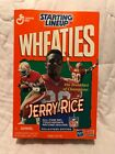 JERRY RICE STARTING LINEUP (W/ CASE) LOT-BOTH ARE NITB! WHEATIES (GOLD MEDAL)!
