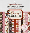 Echo Park Double Sided Paper Pad 6X6 24 Pkg Be My Valentine 12 Designs 2 Each