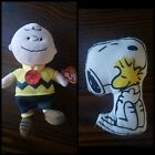 2 piece Peanuts Plush Set, Ty Beanie Baby Charlie Brown and Snoopy