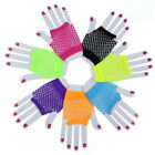 Fashion Womens Bride Wedding Party Lace Fingerless Mittens Mesh Fishnet Gloves