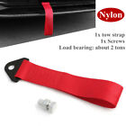 2 ton Load Bearing High Strength Red Universal Nylon Car Trailer Tow Ropes Strap