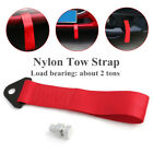 Racing Car Universal High Strength Red Nylon Trailer Tow Rope Strap Tow W Screw