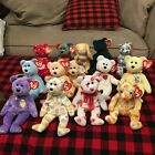 Lot 14 Ty Beanie Babies Valentino Eggs Shasta Grace Smooch Collection Retired