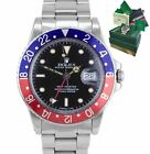 1983 PAPERS Vintage Rolex GMT Master Pepsi 16750 Glossy PATINA One Owner Watch