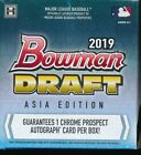 ASIA EDITION 2019 BOWMAN DRAFT CHROME JUMBO HOBBY BOX (1) BRAND NEW - VERY RARE!