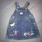 Oshkosh 6 9 mos Overall dress Jumper Cowgirls Wanted Embroidered Denim Jean VTG