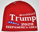 Trump 2020 Keep America Great Red Knit Stocking Hat Beanie Soft New!!