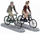 NEW Lemax Christmas Village Figurines Romantic Bike Ride Date Man Woman 2 Pc Set