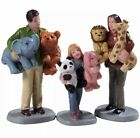 NEW Lemax Prize Winners Mom Dad Girl Kid Carnival Toy Prize Village Figurines