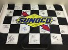 AUTHENTIC SIGNED NASCAR SUNOCO CHECKERED FLAG WITH 25 AUTOGRAPHS