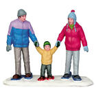 Lemax 2015 Snowshoe Family Vail Village 52336 Vibrant Winter Wear Special moment