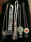 VINTAGE NATIVE AMERICAN HANDMADE Beaded Necklaces LOT of 5