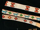 VINTAGE NATIVE AMERICAN HANDMADE BEADED LEATHER HAT BANDS LOT of 3