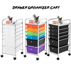 6 Drawer Rolling Storage Cart Scrapbook Paper Office School Organizer 3 Colors