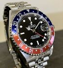 ROLEX OYSTER PERPETUAL DATE GMT - MASTER II REFERENZ 16710T AUTOMATIK PEPSI