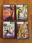 XBOX 360 KINECT LOT of 4 Games Bundle SPORTS ADVENTURES ZUMBA BIGGEST LOSER