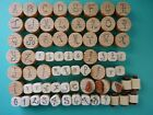 Gothic Style Upper Lowercase Alphabet Numbers  Punct 77pc RBBB Rubber Stamps