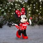 Lighted Disney Minnie Mouse Sculpture Pre Lit Outdoor Christmas Decor Yard Lawn