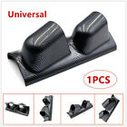 High Quality 2 Dual Gauge Cover Mount Holder Carbon Fiber ABS For Car Cracking