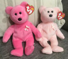 TY Beanie Babies- AWARE And CURE Bears (Breast Cancer Awareness Bears)- New