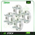 4 pcs silver wheel spacers 4x100 12x15 studs 1 thick for for Hyundai for Kia