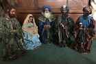 Vintage Paper Mache Christmas Nativity Large Set 20 Tall 3 WisemenMaryJoseph