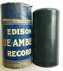 ANTIQUE 1917 BILLS DOG TOWSER COON SKETCH EDISON BLUE AMBEROL CYLINDER 3329