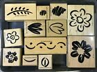 STAMPIN UP Fanciful Flowers Wood Mounted Rubber StampsPartial Set