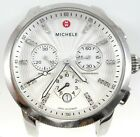MICHELE UPTOWN CHRONOGRAPH WHITE DIAL 28 DIAMONDS SILVER WATCH CASE MW25A00A0942