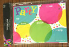 Party Time Circles Decor 1 Invitation 10 Ct  Envelopes All Occasion Colorful