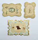 ANTIQUE Valentines LOT Vintage Victorian CARDS Scrapbook Diorama Scrap Lace OLD