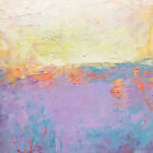 Original abstract oil painting modern colorist color field landscape S J Studio