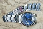 Tudor Prince Date Day wristwatch, 37mm Blue Numeral Dial