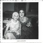 VTG 1957 Photo 2 Pretty Young Woman Halloween Costumes Flapper Drinking Smoking